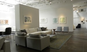 Gallery interior, paintings by Dara Mark